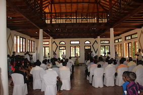 In the large hall